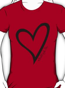 #BeARipple...Flow Black Heart on Red T-Shirt
