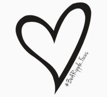 #BeARipple...Focus Black Heart on White by BeARipple