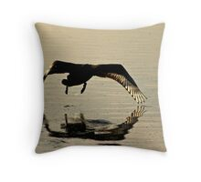 Early Morning Take Off.... Throw Pillow
