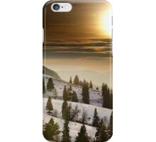 Sunset on snowy mountains iPhone Case/Skin