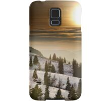 Sunset on snowy mountains Samsung Galaxy Case/Skin