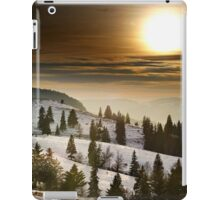 Sunset on snowy mountains iPad Case/Skin