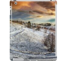 Countryside road at sunset, winter iPad Case/Skin