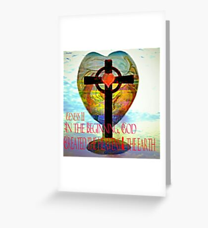 Genesis 1:1 (Art and Writing) Greeting Card