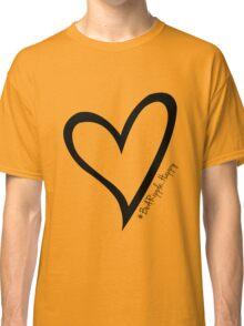 #BeARipple...Happy Black Heart on White Classic T-Shirt