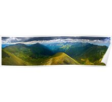 Romanian mountains panorama Poster