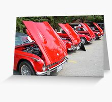 Red All Over... Triumphs in all their glory... Greeting Card