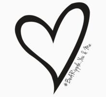 #BeARipple...You & Me Black Heart on White by BeARipple