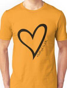#BeARipple...You & Me Black Heart on White Unisex T-Shirt