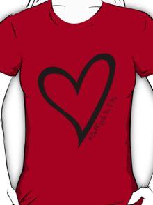 #BeARipple...You & Me Black Heart on Red T-Shirt