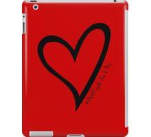 #BeARipple...You & Me Black Heart on Red iPad Case/Skin