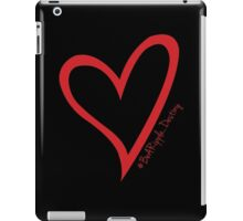 #BeARipple...Destiny Red Heart on Black iPad Case/Skin