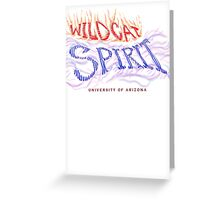 AZ Wildcat SPIRIT Greeting Card