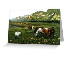 The Wu Shan Fairy Series Wild Horses Greeting Card