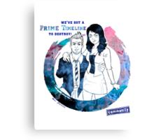 Community: Evil Jeff & Evil Annie Canvas Print