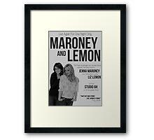Maroney and Lemon Framed Print