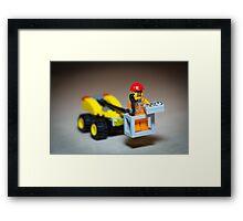 Lego Worker on Lift Construction Framed Print