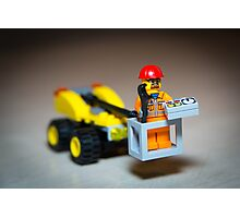 Lego Worker on Lift Construction Photographic Print