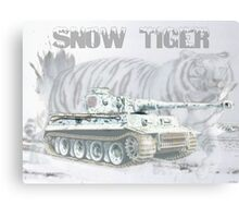 Snow Tiger Canvas Print