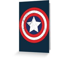 Captain America - Shield Greeting Card