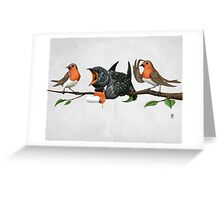 Cock Robin (wordless) Greeting Card