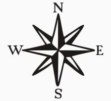 Compass Rose (monochrome) Kids Clothes