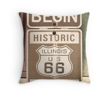 Route 66 - The Beginning Throw Pillow