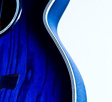 Arty blue guitar by mausue