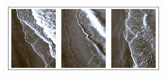 Surf triptych I by Duncan Waldron