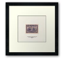 Vintage chinese stamp from the 40's Framed Print