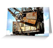 Rusty Crane Greeting Card