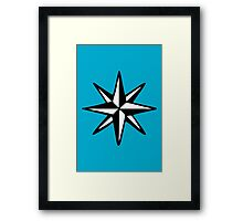 Compass Rose (Two-Color) Framed Print