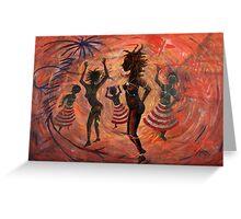 African Ritual Dance Greeting Card