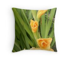 Golden Spear Throw Pillow