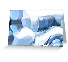 The Melting of Rocks Greeting Card