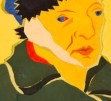 Self portrait with Bandaged Ear. After Vincent Van Gogh Sticker