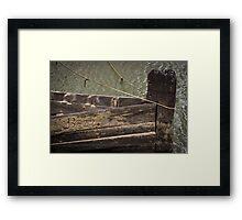 Barge hulk B22 Framed Print
