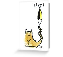 Cat Juggeling with Fish Greeting Card