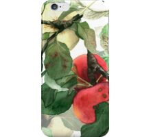 Watercolor apples iPhone Case/Skin