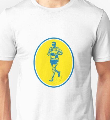 Marathon Runner Running Oval Retro Unisex T-Shirt