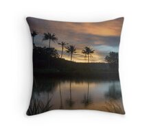 """Lake"" Evening Throw Pillow"