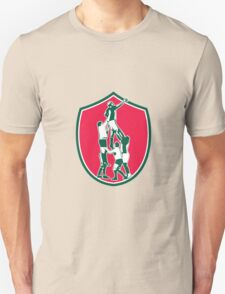 Rugby Lineout Catch Shield Unisex T-Shirt
