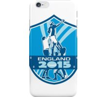 Rugby Lineout England 2015 Shield iPhone Case/Skin