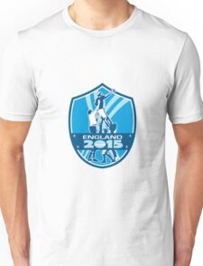 Rugby Lineout England 2015 Shield Unisex T-Shirt