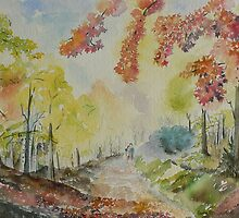 Autumn in watercolor by GeetaBiswas