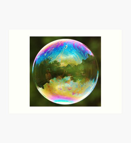 Planet Bubble Art Print