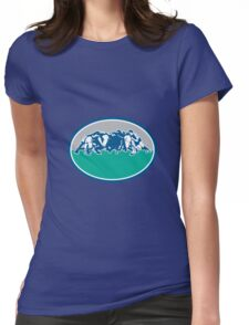 Rugby Union Scrum Oval Retro Womens Fitted T-Shirt