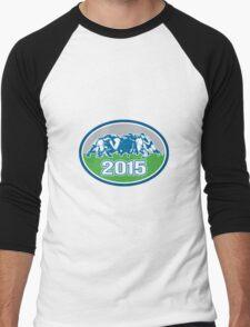 Rugby Scrum 2015 Oval Men's Baseball ¾ T-Shirt