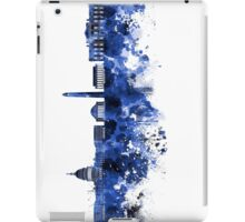Washington DC skyline in blue watercolor on white background  iPad Case/Skin