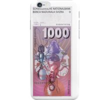 1000 Old Swiss Francs note - Back iPhone Case/Skin